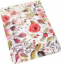 Uphome Badezimmerteppich mit Blumen-Design,