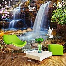 Upinfan 3D-Tapete für Wände, Rolle Wasserfall,