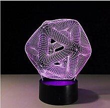 upinfan Hohl knoten 3d acryl illusion lampe für