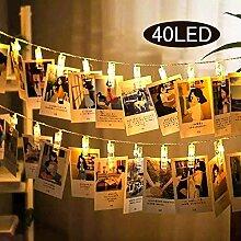 Uping LED batteriebetrieben Lichterkette 40 Foto