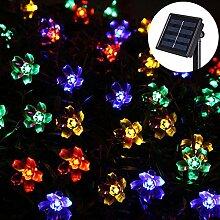 Uping® Solar Lichterkette 50er led Blumen für