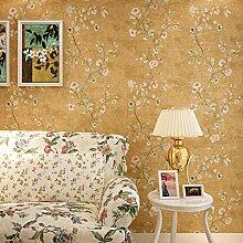UPINT Retro Blumen Luxus 3D Tapete Für Wände 3 D
