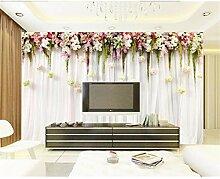 UPINT Tapete Für Wände 3 D BlumenWein