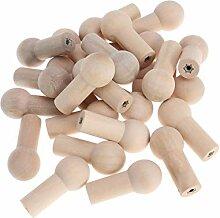 UPKOCH 25 Stück Holz Haken Dekorativer Wandhaken