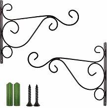 UPKOCH 4 Stück Hängende Pflanzenhalter Eisen