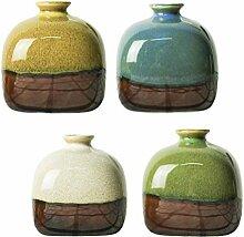 UPKOCH 4 Stück Mini Keramik Vase Keramik
