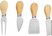 UPKOCH 4 Stücke Käse Messer Set Holzgriff
