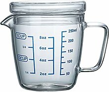 UPKOCH Hitzebeständiger Glas-Messbecher mit