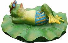 UPKOCH Schwimmender Frosch Figur auf Rettungsring