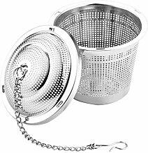 UPKOCH 5pcs Teesieb Infuser Edelstahlgewebe Tee Ball Teesieb Filter Tee Intervall Diffusor mit Kette f/ür losen Tee Silber