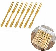 uplama 600Stück Bambus Gabeln, Holz Aperitif