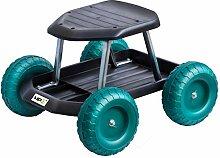 UPP Gartenwagen Rollsitz bis 130 kg mit Ablage