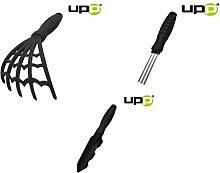 UPP® Profi-Garten-Handgeräte / Unkrautstecher / Unkrautschaufel / Fugenkratzer / Fugenreiniger / Unkrautharke / Gartenkralle / Harke / Hand Gerät (Sparset: alle 3 Teile)