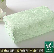 Upper-Bambus Faser Handtücher, Bettdecken, Decken, Handtücher aus Baumwolle, Sommer decken, B grün