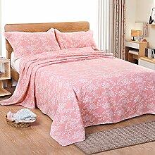 Upper-Baumwolle Decke dünne Decke Decke gaze Handtuch decke Sommer 1.5mX2m, Rosa