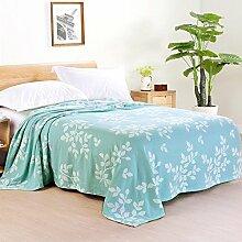 Upper-Baumwolle Decke dünne Decke Decke gaze Handtuch decke Sommer 1.5mX2m, grün B