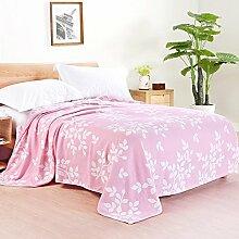 Upper-Baumwolle Decke dünne Decke Decke gaze Handtuch decke Sommer 1.5mX2m, Rosa B