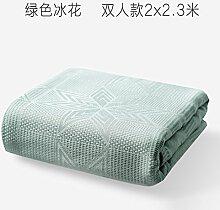 Upper-Decke, Bambusfaser Decke, sommerdecke, Sommer kalt, Nap, grün