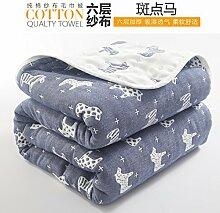 Upper-Decke, Eindickung, Sommer Baumwolle Decke, Bettdecke, Baumwolle, f Dunkelblau