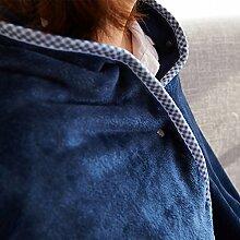 Upper-Decke, Meridian bett Decke, coral Fleece Decke, Büro Sofa, Decke, Decke, blau