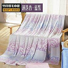 Upper-Decken Bambusfaser Handtuch im Sommer decken Baumwolle Sommer kühl Atmungsaktiv, N