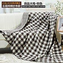 Upper-Decken, Bettwäsche, Handtücher aus Baumwolle, Decken, nap Bettdecken, Decken, Braun