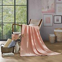 Upper-Decken, einfachen Bett, Baumwolle Steppdecke Decke, Sommer, Rosa
