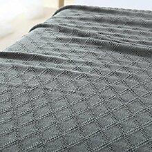 Upper-Decken, Nordic Baumwolle Pullover, Mittag- decke, Baumwolle Büro Decke, Decke, grau