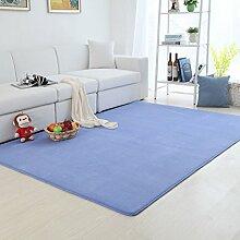 Upper-Dicke coral Fleece Wolldecke kann Continental moderne Home Wohnzimmer Couchtisch rechteckig Teppich gewaschen werden - Schlafzimmer Bett Decke, 120 * 200 cm, blau