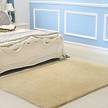 Upper-Dicker Teppich Teppich Farbe einfache wohnzimmer tisch Schlafzimmer Bett rechteckig Teppich, 1,4 x 2 M, Khaki