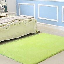 Upper-Dicker Teppich Teppich Farbe einfache wohnzimmer tisch Schlafzimmer Bett rechteckig Teppich, 1,6 x 2,3 m, grün