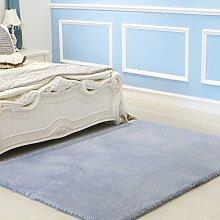 Upper-Dicker Teppich Teppich Farbe einfache wohnzimmer tisch Schlafzimmer Bett rechteckig Teppich, 1,4 x 2m, grau