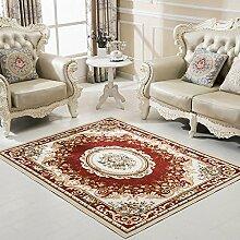 Upper-Europäische Teppich Wohnzimmer Teppich einfache, moderne Schlafzimmer Bett voller Teppich Teppich Kaffee Tisch Matte, 160 * 230 cm, G02 - Ro