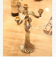 Upper-Heimtextilien European Candle Taiwan vier Kopf maid Leuchter Hochzeit Schmuck Harz Handwerk kreative Wohnungseinrichtung maid Leuchter