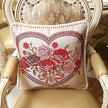 Upper-Home Schlafzimmer Wohnzimmer Sofa Bett Kissen Kissen Kopfkissen mit Kernen, 48 x 48, Rose Ro
