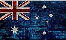 Upper-Jack Flagge einfach modernes Sofa Wohnzimmer Teppich Teppich retro Britischen Schlafzimmer Bett Teppiche, 100 X 160 cm, Australien