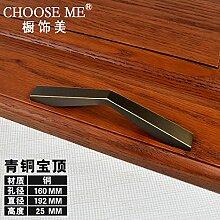 Upper-Kupfer kleiderschrank Türgriff modernen minimalistischen Schranktür Schublade Küche Tür Schwarz kupfer Jane kleine Griff, b-160 mm