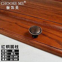 Upper-Kupfer Schranktür modernen minimalistischen Schranktür Schublade Küche Tür Schwarz kupfer Jane kleiner Griff Griff, eine Runde