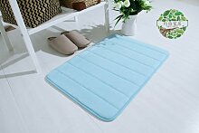 Upper-Langsame Erholung slip absorbierenden Matten dicke Fußmatte Tür Bad - Badezimmer matten Badezimmer Schlafzimmer Wohnzimmer Teppich, 50 x 120 cm, blau