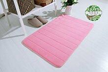 Upper-Langsame Erholung slip absorbierenden Matten dicke Fußmatte Tür Bad - Badezimmer matten Badezimmer Schlafzimmer Wohnzimmer Teppich, 200 x 300 cm, Pink