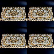 Upper-Mahlzeit pad, Fach pad, PVC hot gold Pad, Mahlzeit pad, Wärmedämmung Pad 4 Stück, EIN