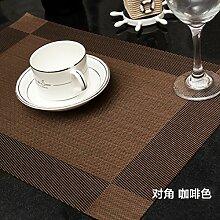 Upper-Mat Tischset Table Mat Wasserdicht warme Mahlzeit Schüssel Platte 4, B