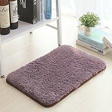Upper-Mat Wasser absorbierenden mat Schlafzimmer Tür matte Badewanne Anti-Rutsch-Matten Küche Fußmatte Fußmatte, 100 * 160 cm, grau lila