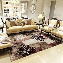 Upper-modernen mediterranen Stil Wohnzimmer Couchtisch Teppiche Teppiche im Flur Schlafzimmer Bett Teppiche dicker, C, Kaffee Flocken