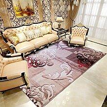 Upper-modernen mediterranen Stil Wohnzimmer Couchtisch Teppiche Teppiche im Flur Schlafzimmer Bett Teppiche dicker, C, braune Wolken