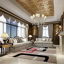 Upper-modernen mediterranen Stil Wohnzimmer Couchtisch Teppiche Teppiche im Flur Schlafzimmer Bett Teppiche dicker, A, einfach
