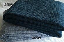 Upper-Nordic sofa Freizeitaktivitäten Decke Decke Decke Baumwolle Handtuch Decke Decke Amerikanischen sofa Tuch, Navy Blue