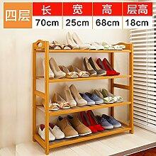 Upper-Schuhschrank multifunktional multilayer Bambus Schuhputzmaschine Schuhputzmaschine, einfachen Haushalt Wohnzimmer Mini Schlafsaal Tür Rack, 70 * 25 * 68 cm