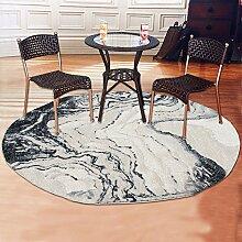 Upper-Teppich einfache Tinte abstrakte Wohnzimmer Schlafzimmer Bett Teppich rund Teppich, E