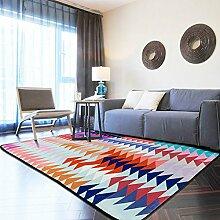 Upper-Teppich Nordic Wohnzimmer Europäischen einfache Teppich modernes Schlafzimmer voller Kaffee Tisch sofa Teppich Zimmer Bett Büro Rechteckiger Teppich, 190 cmX 280 cm, Rosa 2